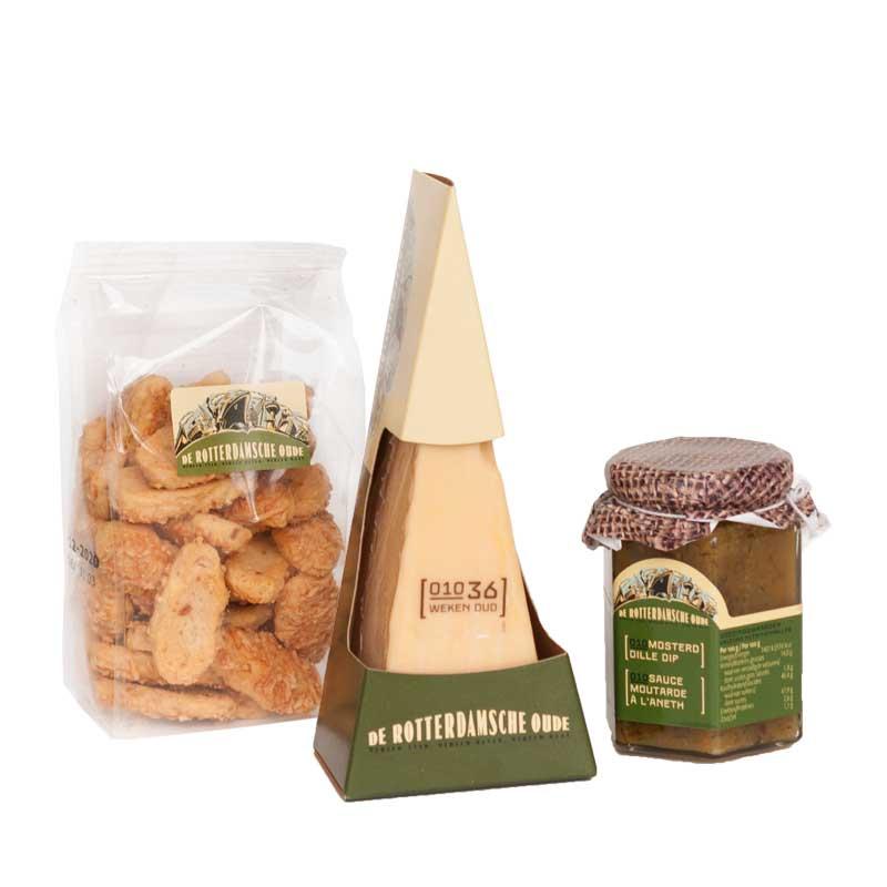 Kaaspakket maashaven De Rotterdamsche Oude kaas